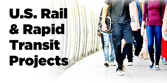Infographic: U.S. rail & rapid transit projects