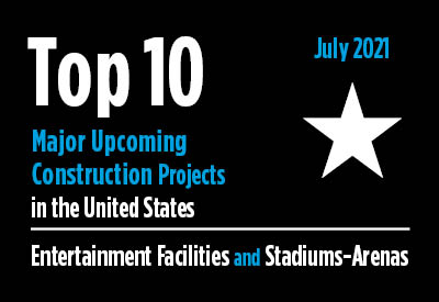 Top 10 major upcoming entertainment facility and stadium-arena construction projects - U.S. - July 2021 Graphic