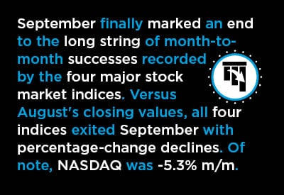 Stock Market Indices in September: Catching Their Breath or Re-assessing? Text Graphic