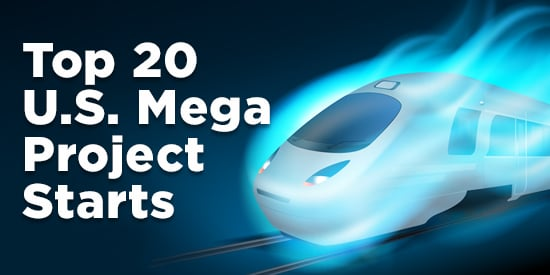 Infographic: Top 20 U.S. Mega Project Starts