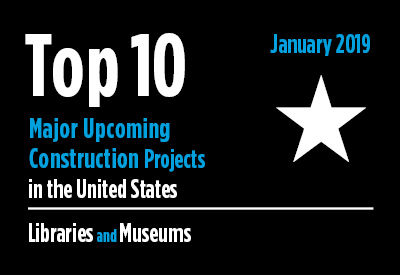 20 major upcoming library and museum construction projects - U.S. - January 2019 Graphic
